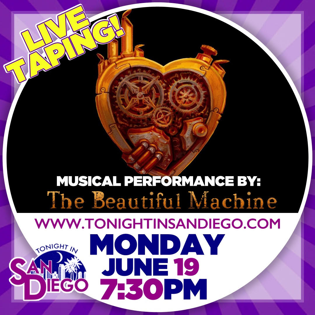 Logo Image 'The Beautiful Machine' on 'Tonight in San Diego'