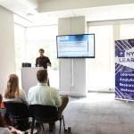 Pic of me giving talk at NYU