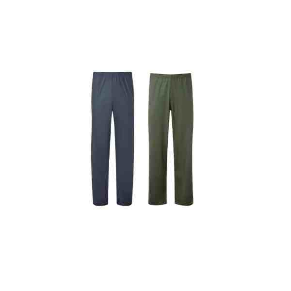 Catalogue image of 921 fortress airflex breatheable waterproof trousers navy and olive