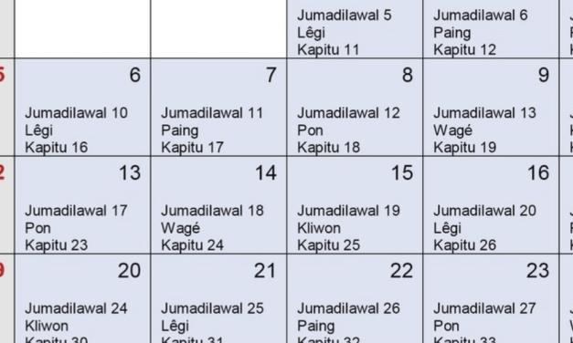 De Javaanse kalender complex en uniek