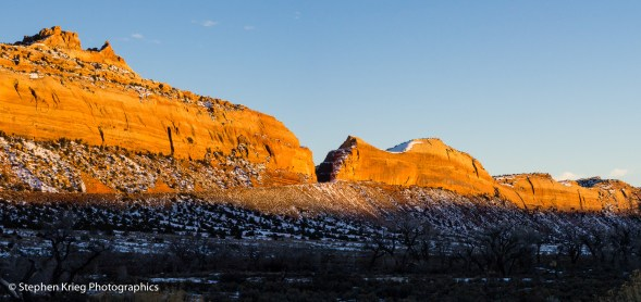 Sunset on Comb Ridge, from Comb Wash.