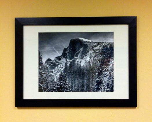Half Dome from Curry Village at Yosemite by Scott Loftesness