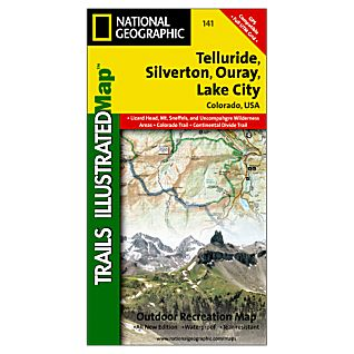 National Geographic Telluride, Silverton, Ouray, Lake City Map