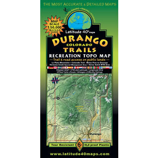 Latitude 40 Durango Trails Map - SJMA