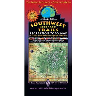 Lat 40 SW Colorado Map