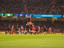 A Lineout. Spot the ball!
