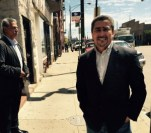 Illinois State Sen. William Delgado (2nd) visited two unlicensed 24-hour rehab homes in Back of the Yards and Little Village on Monday, April 27. Delgado has vowed to investigate a referral chain that connects drug users from Puerto Rico to unregulated rehab homes in Chicago. (The Gate/Adriana Cardona-Maguigad)