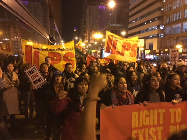 Roughly 600 marched in protest of Laquan McDonald's slaying, demanding the enactment of CPAC (Frumkin/MEDILL).
