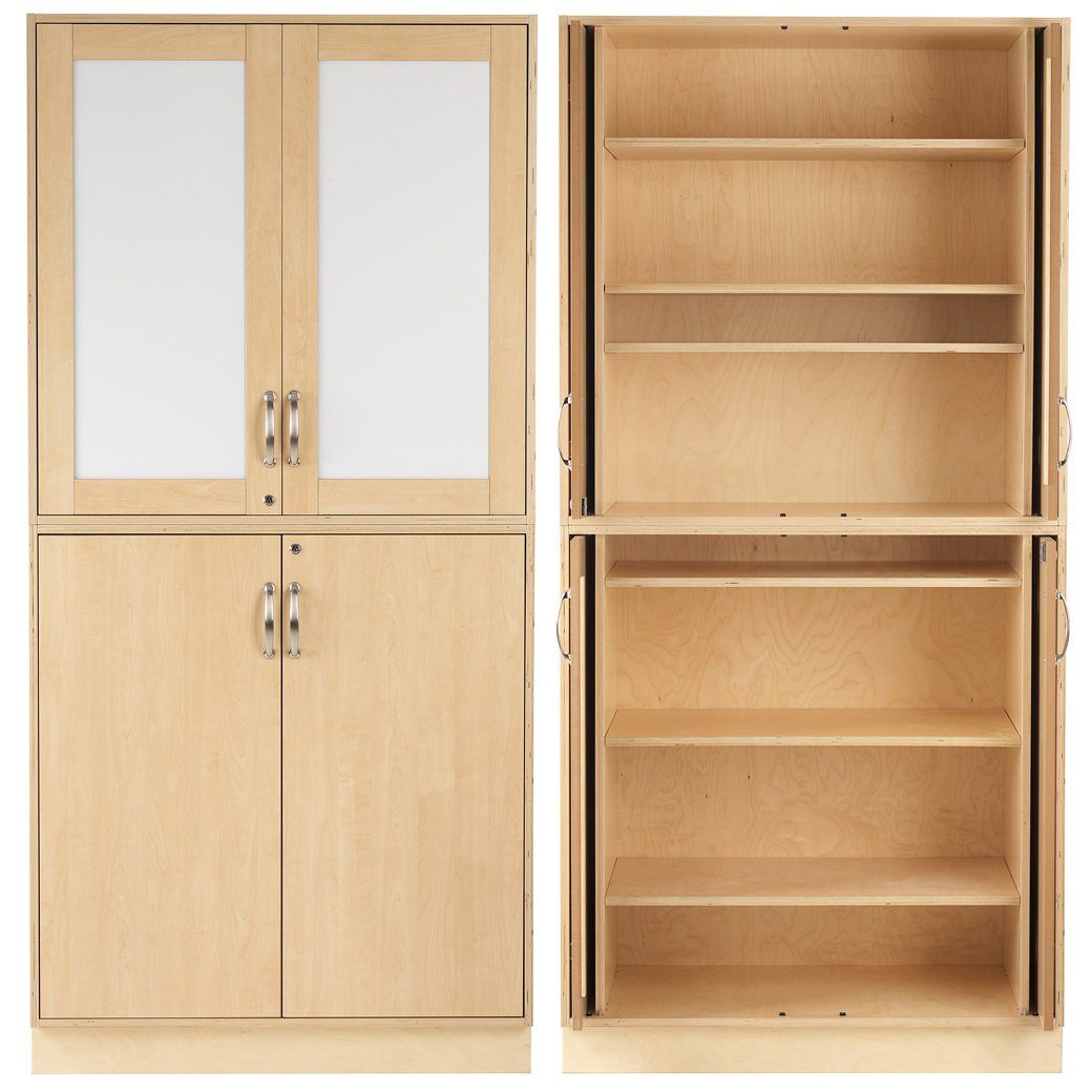 Sjöbergs Cabinet 1, whiteboard/birch doors