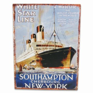 WHITE STAR LINE, metalltavla