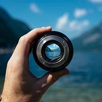 Camera Lens water