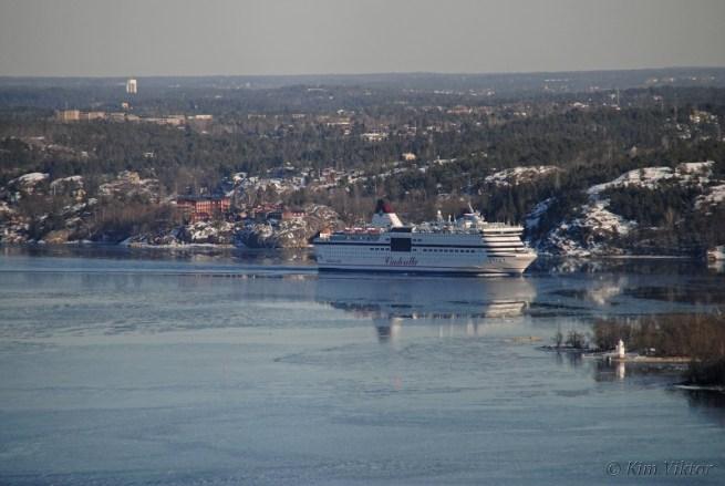 Första fartyget ut denna eftermiddag var Viking Cinderella.