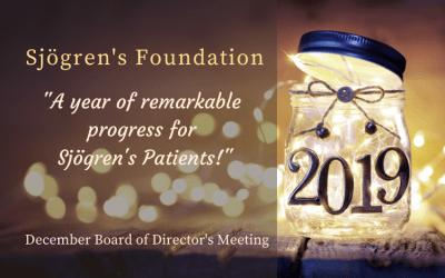 Sjogrenslife- Sjögren's Foundation December 2019 Board