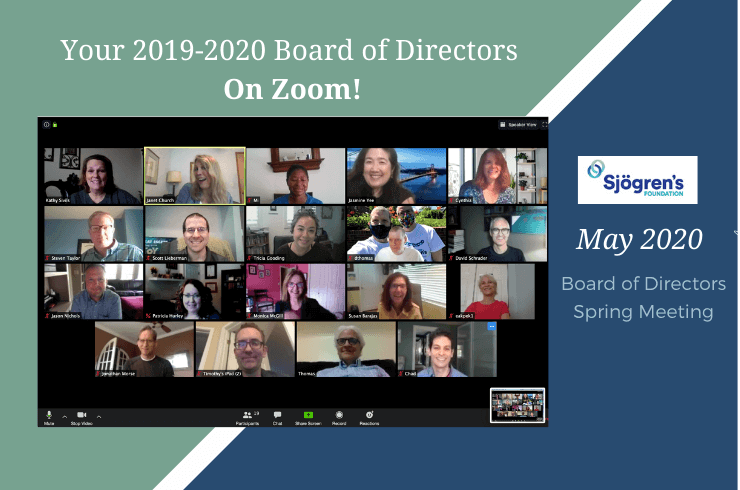 Sjogren's Foundation Board of Directors Meeting — Spring 2020