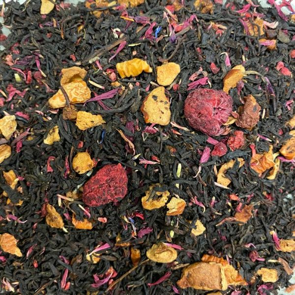 zwarte thee framboos