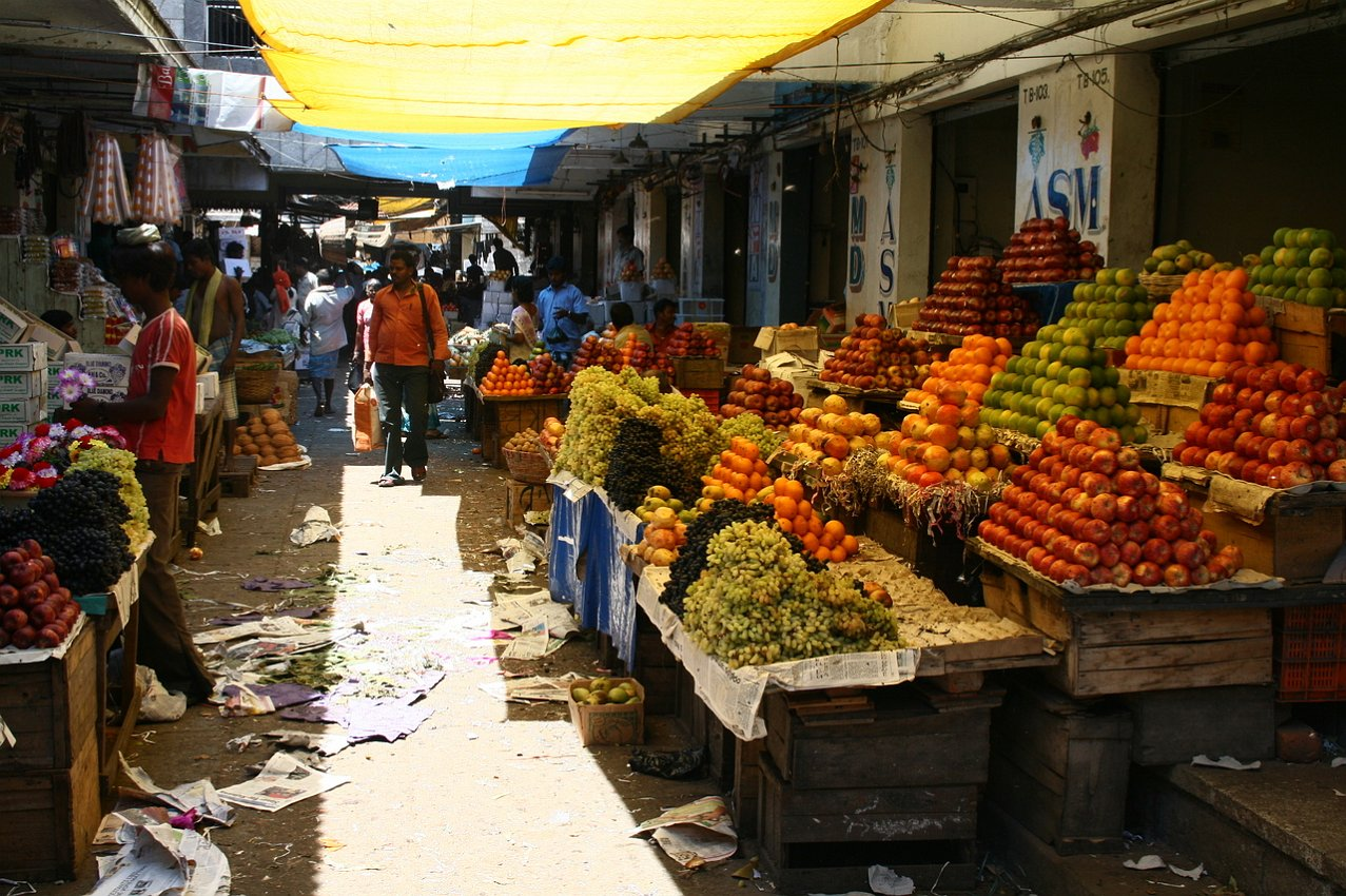 Chennai flower and fruit and vegetable markets
