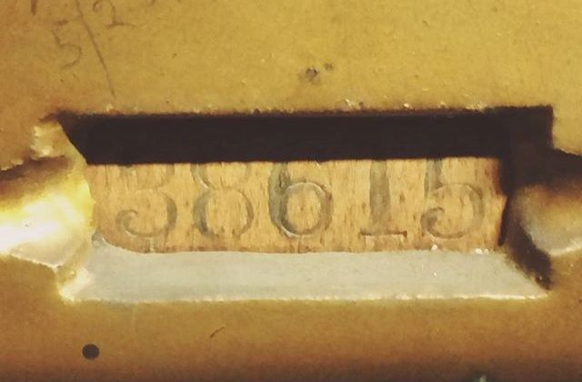 Old serial numbers & other markings