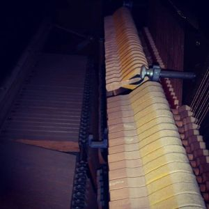 Spinet drop action in the piano