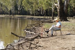 Relaxing by the Murray