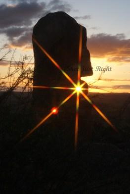 Sunset at Sculpture hill at Broken Hill