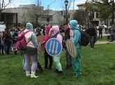 The liberal-leaning, counter-violent protest group known as Pastel Bloc.