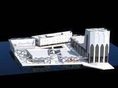 isometrie totale gebouw