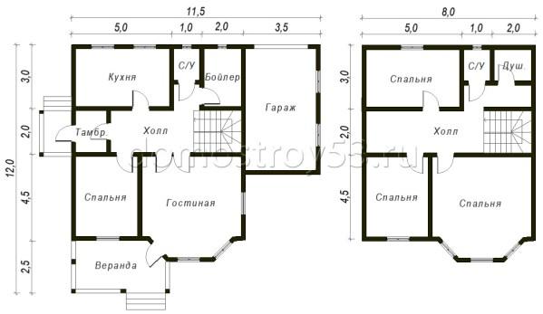 План дома Д-126