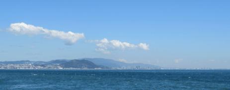 淡路島より神戸を望む
