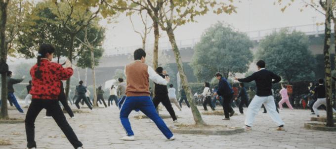 中国、無錫、早朝の公園