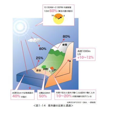 紫外線の反射と透過01