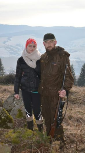 Ja a moja priateľka v horách nad Čiernym Balogom.