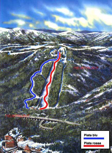 Mappa impianti e cartina delle piste Skirama
