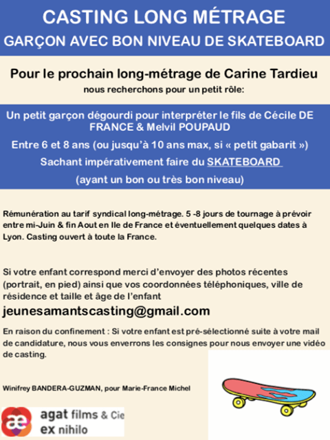Un jeune skater pour un casting long métrage
