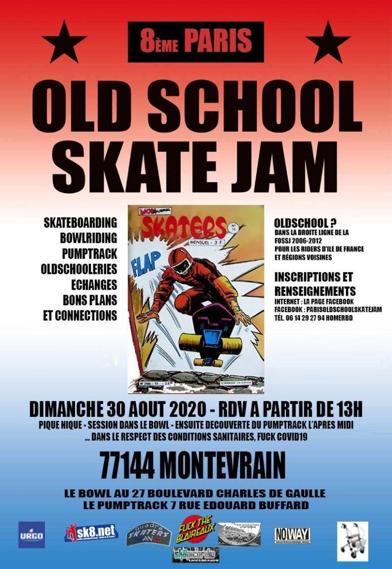 Read more about the article 8ème Paris Old School Skate Jam 2020