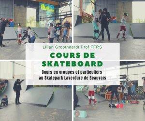 Cours de skateboard au Skatepark Laverdure de Beauvais (60)
