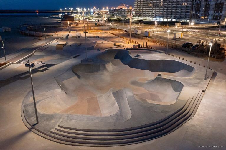 Calais Beach Skatepark le chantier