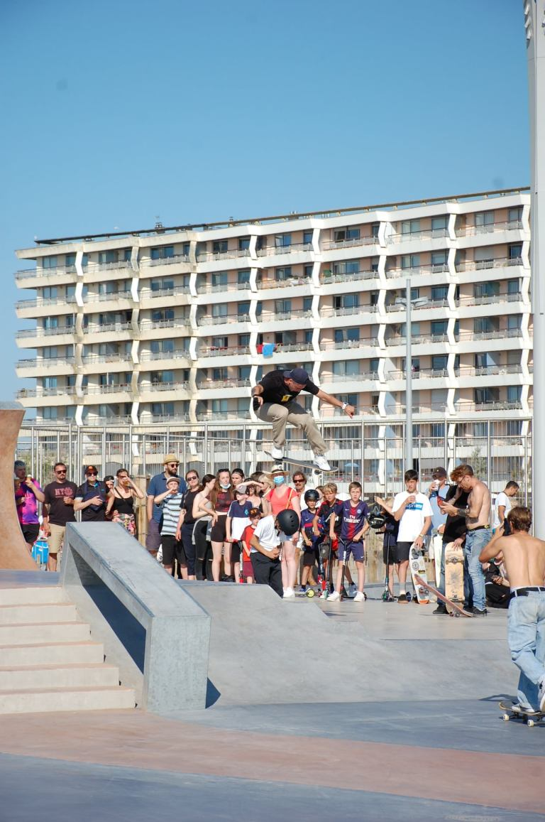 Read more about the article Souvenirs de l'inauguration du Calais Beach Skatepark