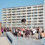 Souvenirs de l'inauguration du Calais Beach Skatepark