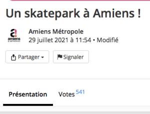 Read more about the article Les votes sont clos pour voter pour le projet de skatepark à Amiens (80)