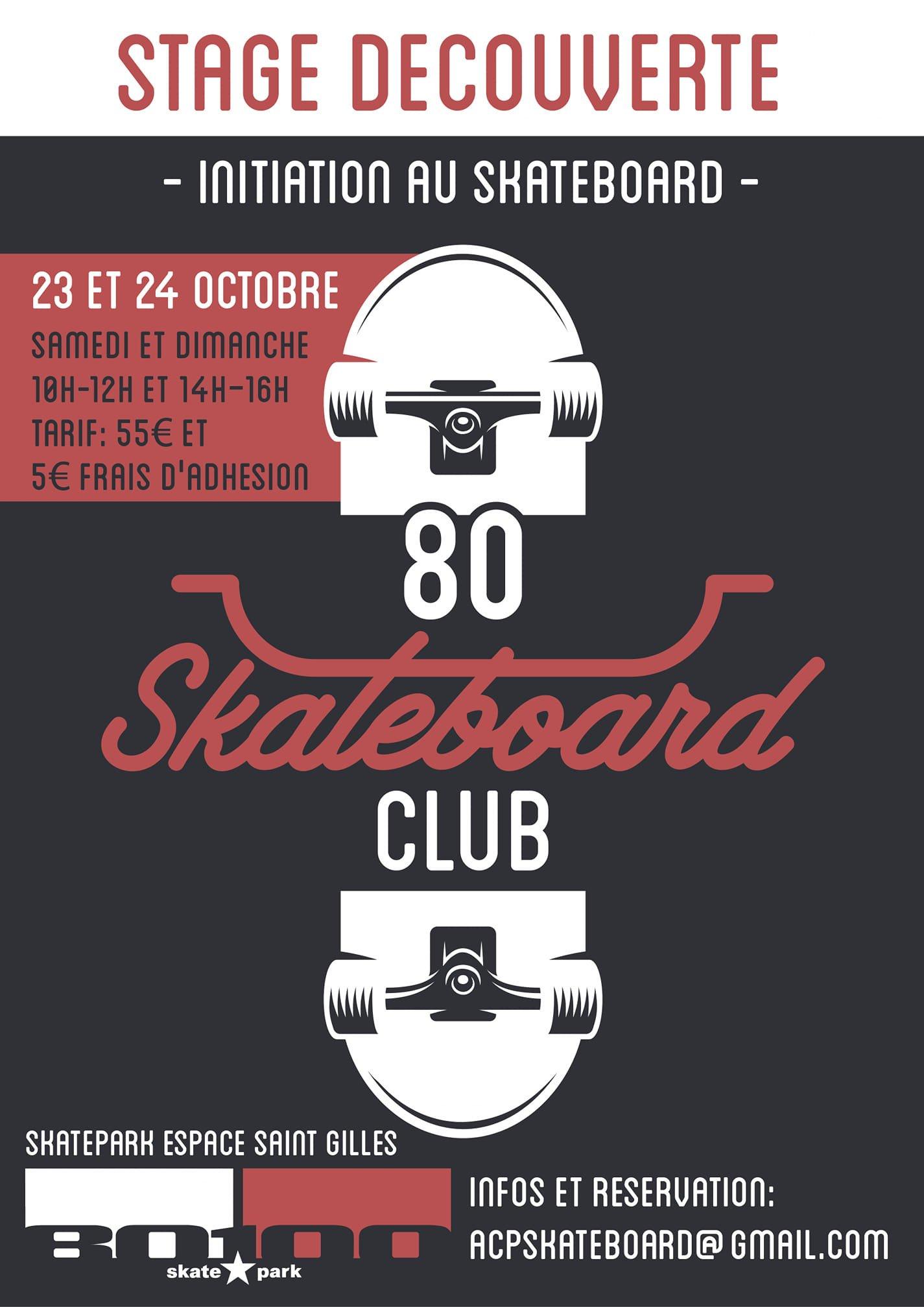 You are currently viewing Au 80100 skatepark, stage de skateboard aux vacances de la Toussaint
