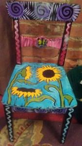 Ben Mann Artist At Work Hand Painted Chair