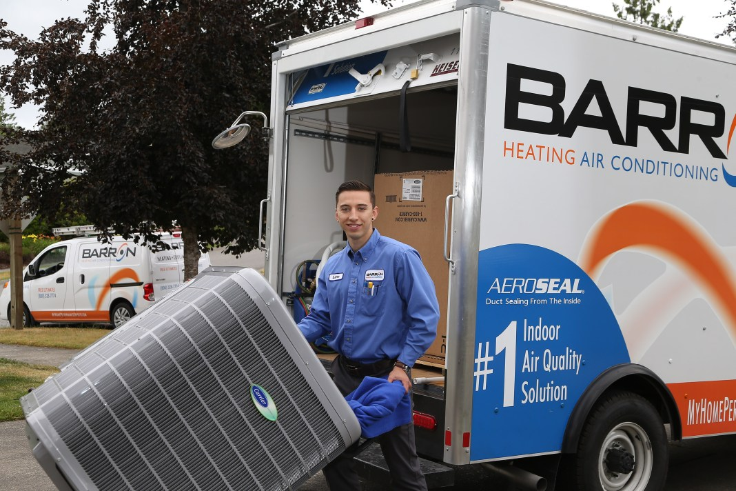 Barron Heating and Air Conditioning Lane close up AC
