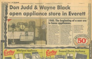 Judd and Black Appliance Beginnings Ad