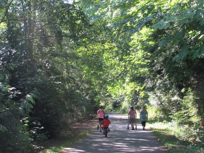 Family Friendly bike ride Skagit County Tommy Thompson Trail