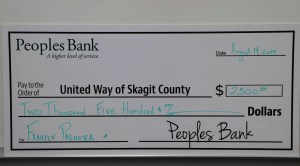 Peoples Bank United Way Check