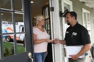 Barron Heating Building Science Customer Greeting