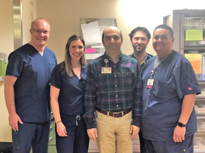 Team after first procedure