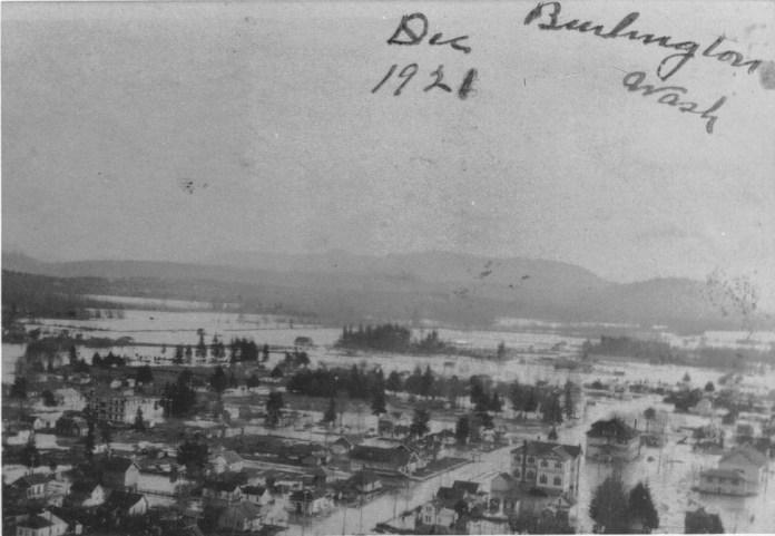 Skagit-County-Historic-Floods-1921-Aerial-View-of-Burlington