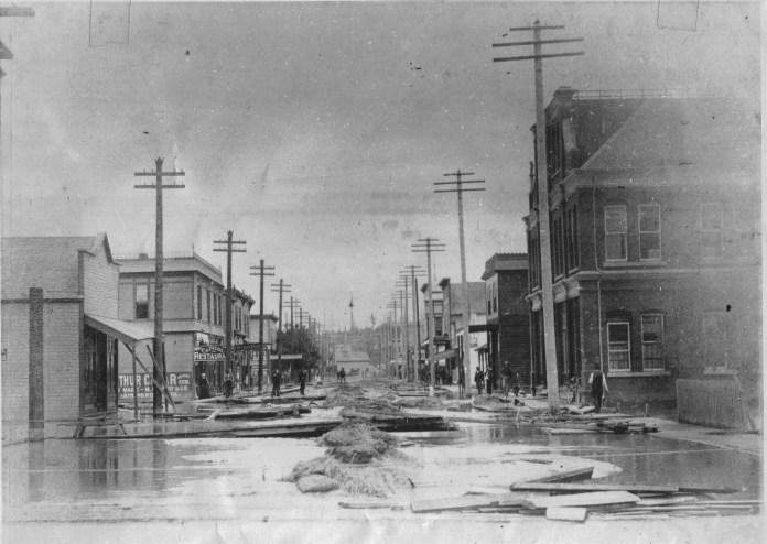 Skagit-County-Historic-Floods-1st-Street-Late-1800s