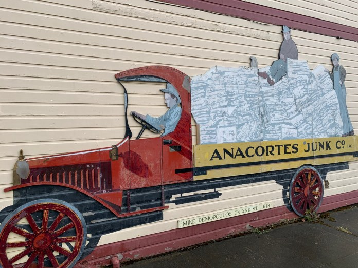 Anacortes murals history Mike Demopolous junk truck